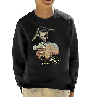 Hammer Dracula Dont Dare See It Alone Poster Kid's Sweatshirt