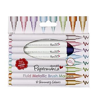 Papermania Fluid Metallic Brush Markers (8pcs) (PMA 8511008)