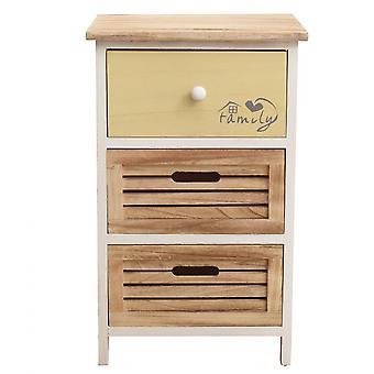 Rebecca Furniture Drawer 3 Beige Wooden Drawers 56x35x25