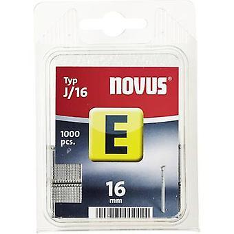 Nails - Type J 1000 pc(s) Novus 044-0063 Clip type J/16 Dimensions (L x W) 16 mm x 1.2 mm
