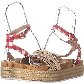 Betsey Johnson Womens thelma Fabric Open Toe Casual Platform Sandals