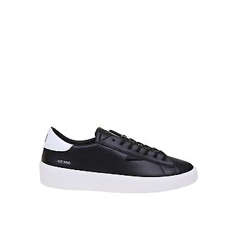 D.a.t.e. M331acmobk Men's Black Leather Sneakers