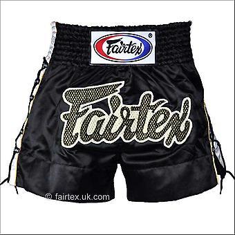 Fairtex black laced sides muay thai shorts