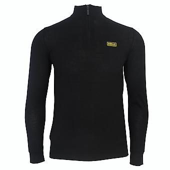 Barbour international men's black absorb merino half zip jumper