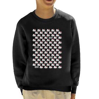 Hallo Kitty Charakter Kopf Kid's Sweatshirt