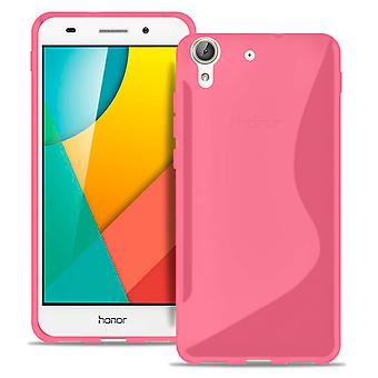 Caso Ultra Slim para Huawei Y6II Compact Light Silicone Ultra Thin Patterned Pink