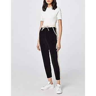 find. Women's Tapered Velour Joggers With Side Stripe, Black XL (US 12-14)