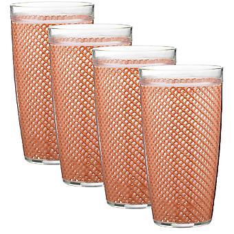 Fishnet 22 Oz Toffee Doublewall Drinkware Set/4