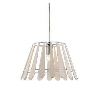 Inspired Deco - Somerset - Colgante de techo 1 luz E27 blanco, cromo pulido