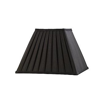 Square Pleated Fabric Shade Black 150, 300mm x 225mm