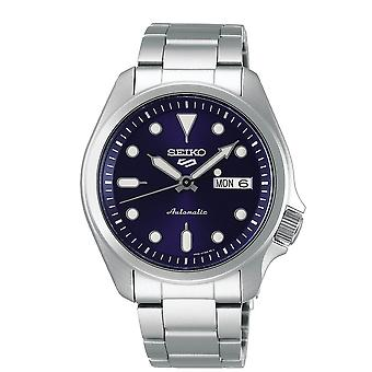 Seiko Watches Srpe53k1 5 Sports Blue & Silver Stainless Steel Automatic Men's Watch