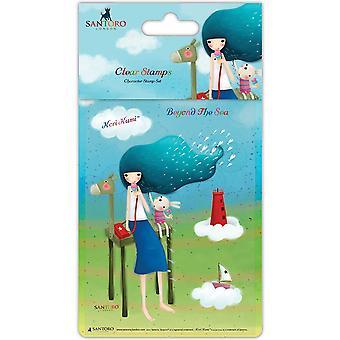 Santoro Kori Kumi Ii A6 Character Stamps - Beyond The Sea