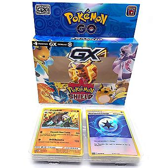 Anime Cards Pokemon Iron Metal Box Toys Battle Game Cartoon Kids Christmas Gifts