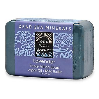 One With Nature Dead Sea Minerals Triple Milled Bar Soap Lavender