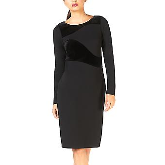 Calvin Klein | Long-Sleeve Velvet-Swirl Sheath Dress