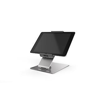Kestävä 893023 TabletPöydän pidike (7-13 tuuman tableteille, 360° kierrettävä varkaudenestoa vastaan) hopea/antrasiitti