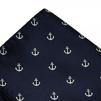 Ties Planet Anchor Navy Blue Pocket Square Zakdoek