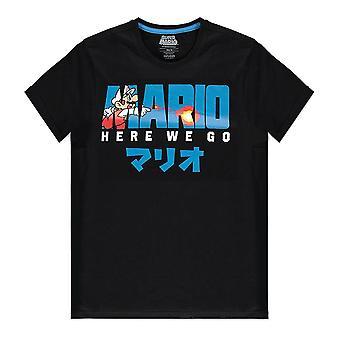 Nintendo Super Mario Bros Brann Mario T-skjorte Mannlige X-Large Svart (TS314624NTN-XL)