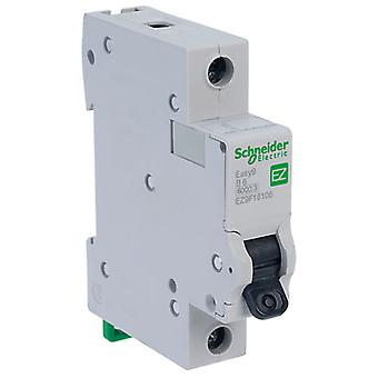 Schneider Electric EZ9F16106 EASY9 6A 1 Pole Type B Miniature Circuit Breaker