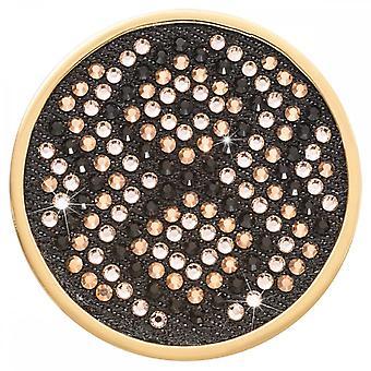 Nikki Lissoni Denim Dreams Golden Capture Large Gold Plated Coin C1531GL