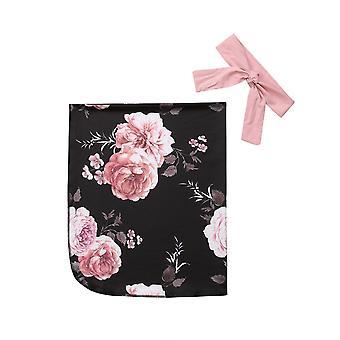حديثي الولادة الفتيات القطن الأزهار طباعة بطانية Swaddle Muslin التفاف Swaddling