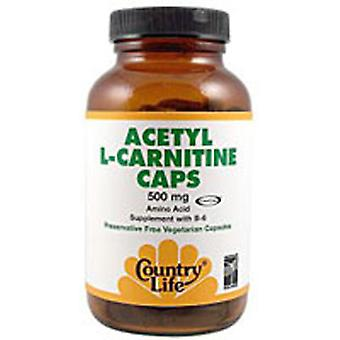 Country Life Acetyl L-carnitine, 500 mg, 60 Caps