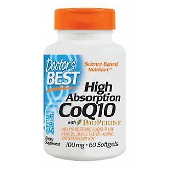 Artsen Beste Hoge Absorptie CoQ10 met Bioperine 100 mg, 60 Softgels