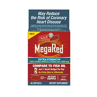 Schiff/Bio Foods MegaRed Extra Strength Omega 3, 500 mg, 45 sgels