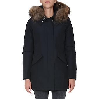 Woolrich Wwou0299frut0001dkn Women's Blue Cotton Down Jacket