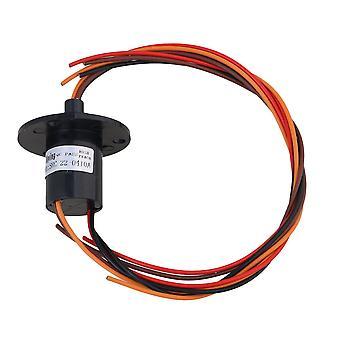Black 250RPM 4 Wires 240V AC/DC 10A Metal Platic Capsule Conductors Slip