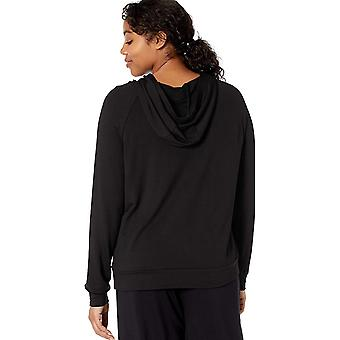 Daily Ritual Women-apos;s Supersoft Terry Popover Sweatshirt, Olive Green, Medium