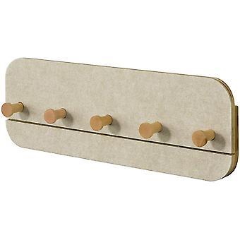 SoBuy FHK16-MI, Wall Coat Rack Shelf with 5 Hooks