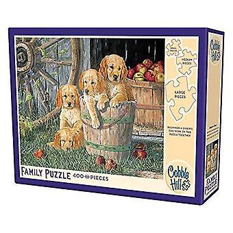 Cobble hill puzzle - puppy pail - 350 pc