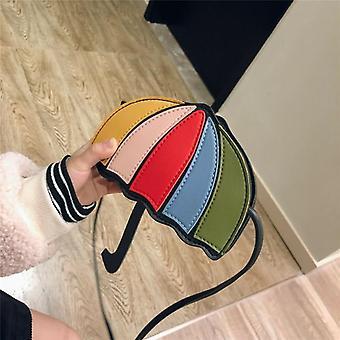 Pu Leather, Umbrella Shape Cute Crossbody Messanger Bags