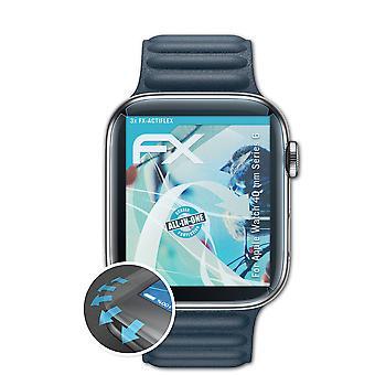 atFoliX 3x Écran protecteur compatible avec Apple Watch 40 mm Series 6 clair&flexible