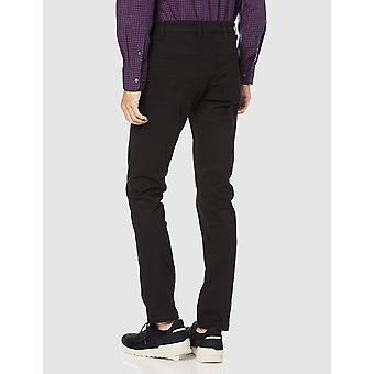 Marca - Goodthreads Hombres's Slim-Fit 5-Pocket Chino Pant, Negro, 40W x 30L