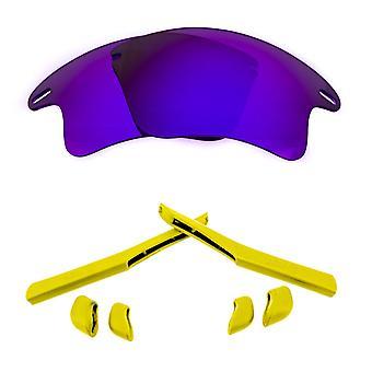 Polarized Replacement Lenses Kit for Oakley Fast Jacket XL Purple Mirror Yellow Anti-Scratch Anti-Glare UV400 SeekOptics