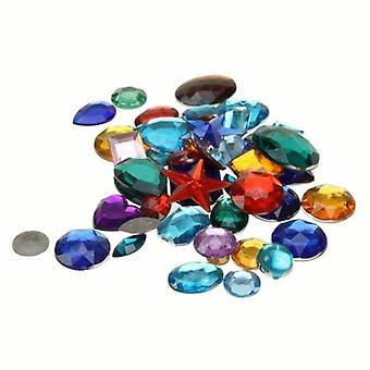Creation station 500 g approximately 800 acrylic gemstones , assorted colours