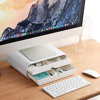 Multi-function Desktop Monitor Stand, Computer Screen Riser Laptop Stand Holder