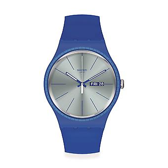Swatch SUON714 Blue Rails Silicone Watch