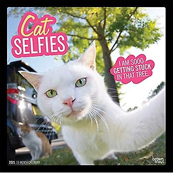Cat Selfies 2021 Square Calendar by Browntrout