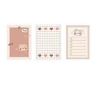 Cute Strawberry Rabbit Bear Memo Pad