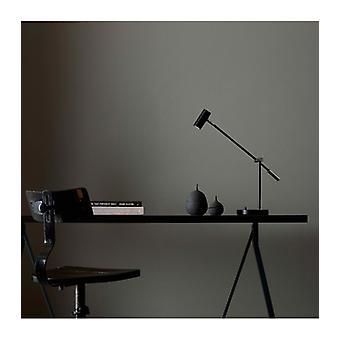 Lampe de table Cato en métal et noir mat