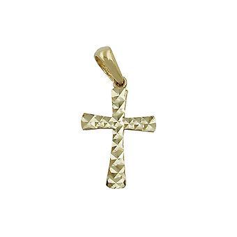 Pendant Cross Diamond Cut 9k Gold