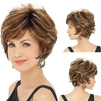 Women's Wig Cross Wig Women's Short Curly Hair Synthetic Wigs