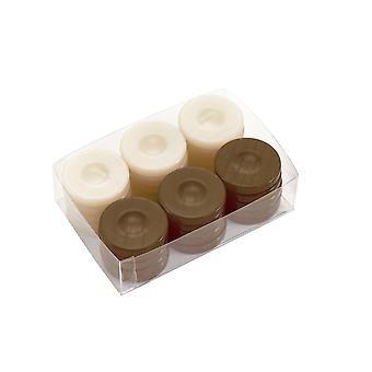 Deluxe Backgammon stenen bruin & Ivory 36mm