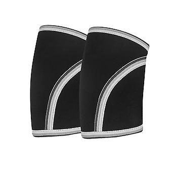 7mm XL-koodi Mustat kyynärpäähihat Tuki ja pakkaus painonnostoon