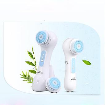 Ultrasonic Facial Cleansing Brush Electric Massager Exfoliator Scrubber Skin