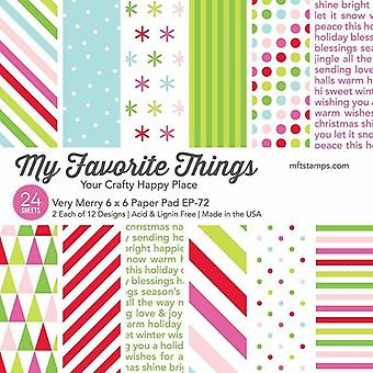 My Favorite Things Very Merry 6x6 Inch Paper Pad