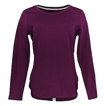 Isaac Mizrahi Live! Women's Top Essentials Pima Cotton Purple A294460